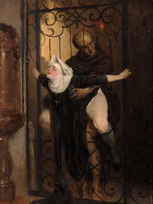 【画像あり】中世の修道女さん、下半身がエロすぎて神父にバックからハメられてしまう・・・